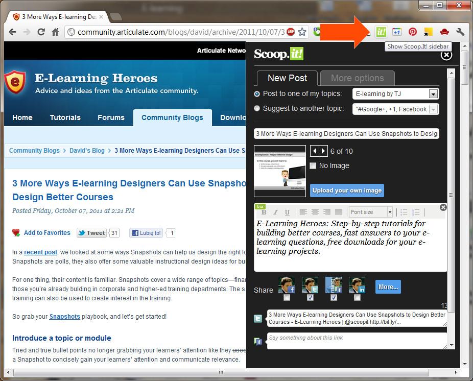 Dodatek do Chrome i technika web clipping