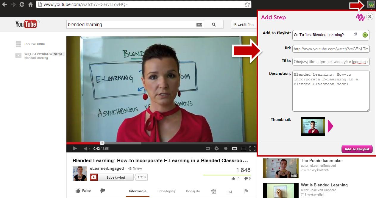 Dodawanie zasobów do MentorMob - wideo o blended learningu Anny Sabramowicz