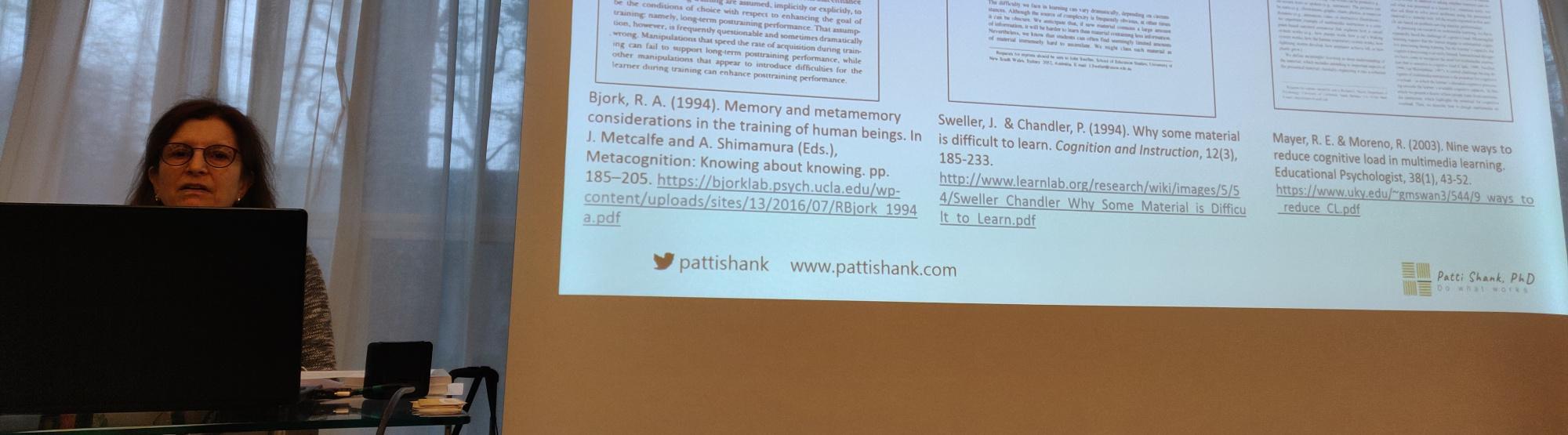 Patti Shank i jej warsztat na OEB18